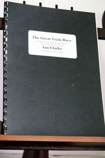 Clarke I - The Great Train Race for Solo Flute (C foot version)